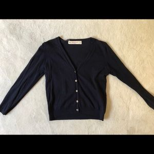 Navy Zara knit cardigan